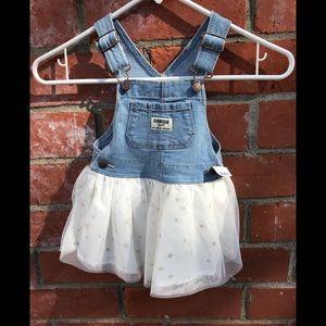OSH KOSH denim overall tutu dress